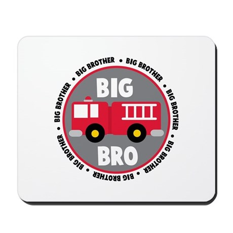 Big Brother Fire Truck Mousepad
