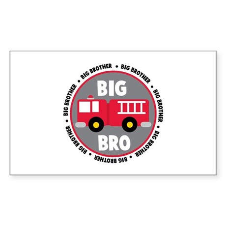 Big Brother Fire Truck Sticker (Rectangle)