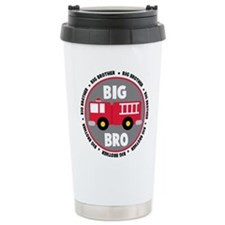 Big Brother Fire Truck Ceramic Travel Mug