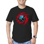 Flaming D20 Classic Black Men's Fitted T-Shirt (da