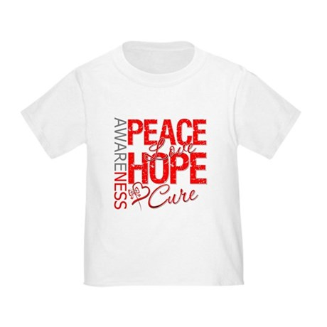 Blood Cancer PeaceLoveHope Toddler T-Shirt
