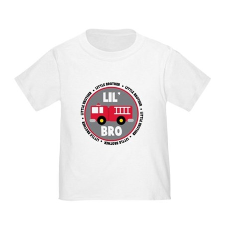 Lil Brother Fire Truck Toddler T-Shirt