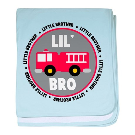 Lil Brother Fire Truck baby blanket
