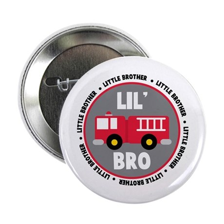 "Lil Brother Fire Truck 2.25"" Button"