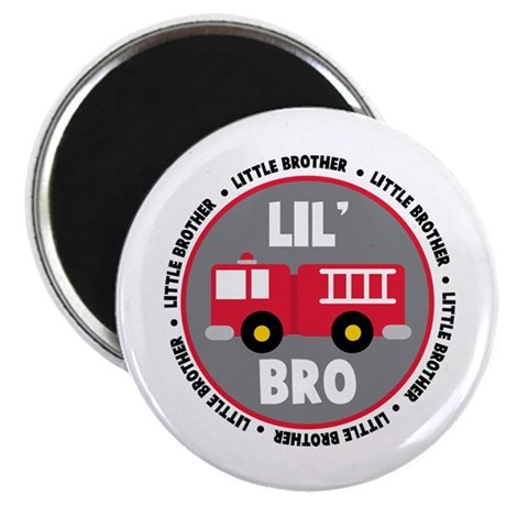 Lil Brother Fire Truck Magnet