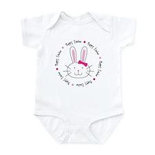 Hoppy Easter Bunny Girl Infant Bodysuit