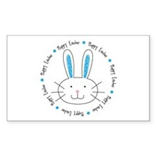 Hoppy Easter Bunny boy Decal