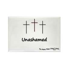 Rectangle Magnet - 3 Crosses Unashamed