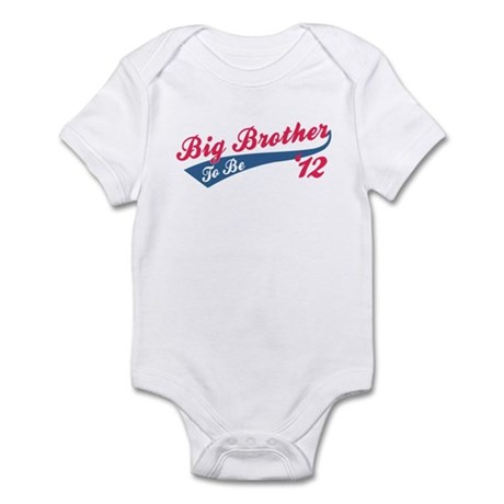 Big Brother To Be '12 red Infant Bodysuit
