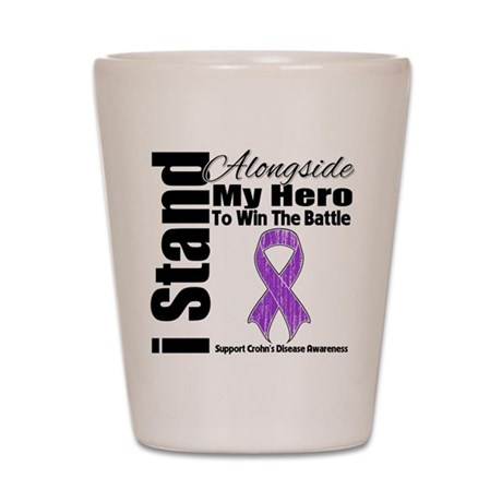 Crohn's Disease Hero Shot Glass