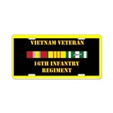 16th Infantry Regiment Aluminum License Plate