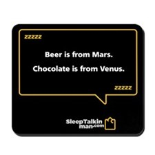 Mousepad: Beer is from Mars