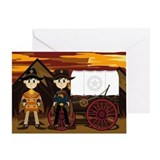 Cute Cowboy Sheriffs Greeting Card