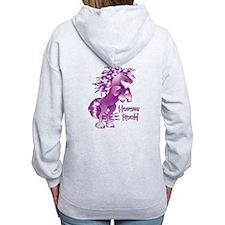Purple Horses Rock Zip Hoodie