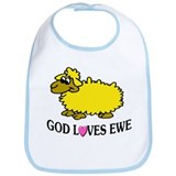 GOD LOVES EWE Bib