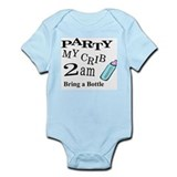 PARTY MY CRIB Infant Bodysuit