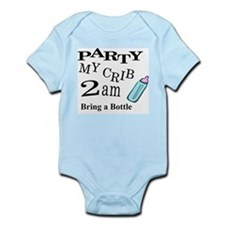 PARTY MY CRIB Onesie