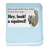 A D D SQUIRELL baby blanket