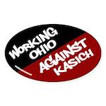 Working Ohio Against Kasich bumper sticker
