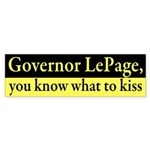 Governor LePage, Kiss This Bumper Sticker