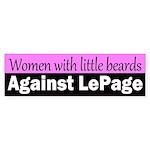 Women with Little Beards Against LePage sticker