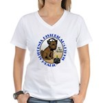 California Historical Radio S Women's V-Neck T-Shi