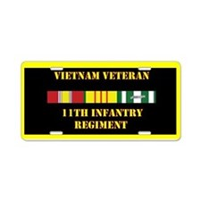 11th Infantry Regiment Aluminum License Plate