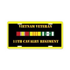 11th Cavalry Regiment Aluminum License Plate