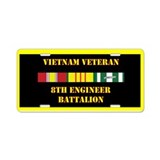 8th Engineer Battalion Aluminum License Plate