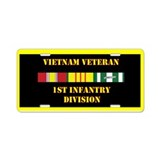 1st Infantry Division Aluminum License Plate
