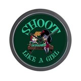 Shoot Like a Girl Wall Clock