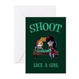 Shoot Like a Girl Greeting Cards (Pk of 10)
