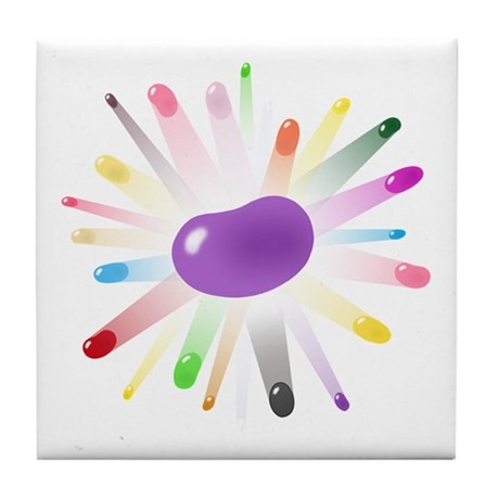 purple jellybean blowout Tile Coaster