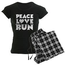 Peace Love Run - white pajamas
