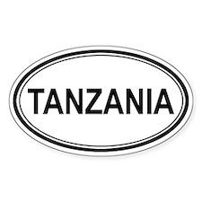 Tanzania Euro Oval Decal