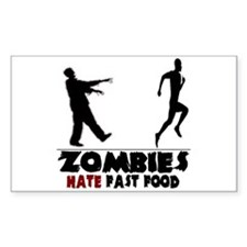 Funny Zombies Sticker (Rectangle)