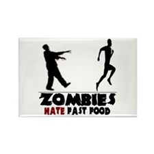 Funny Zombies Rectangle Magnet (100 pack)