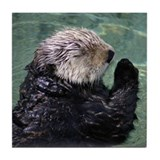 Praying Otter Tile Coaster