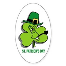 St. Patrick Oval Decal