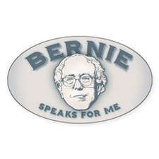 Bernie Speaks For Me Decal