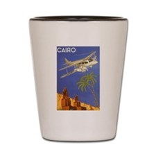 Vintage Travel Poster Cairo Egypt Shot Glass
