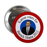 Kansas Voters for Obama 2012 button