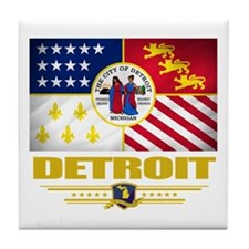 Detroit Pride Tile Coaster