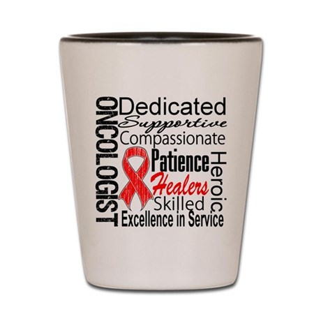 Blood Cancer Oncologist Shot Glass