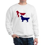 Patriotic Golden Retrievers Sweatshirt