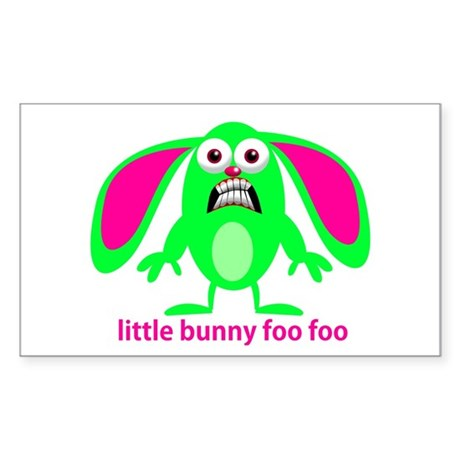Little Bunny Foo Foo Sticker (Rectangle)