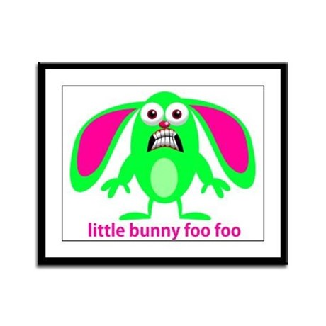 Little Bunny Foo Foo Framed Panel Print