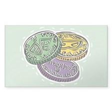 Mardi Gras Rectangle Bumper Stickers