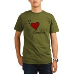 I love Caroline Organic Men's T-Shirt (dark)