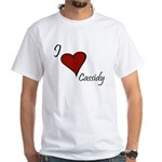 I love Cassidy White T-Shirt